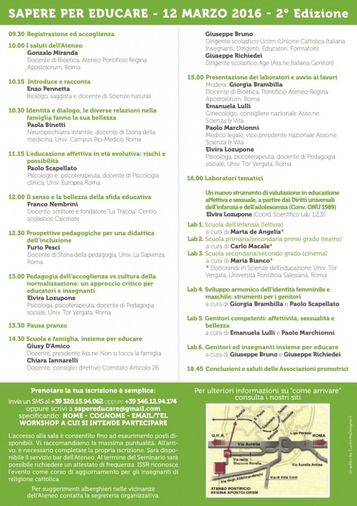 SaperePerEducare_Programma